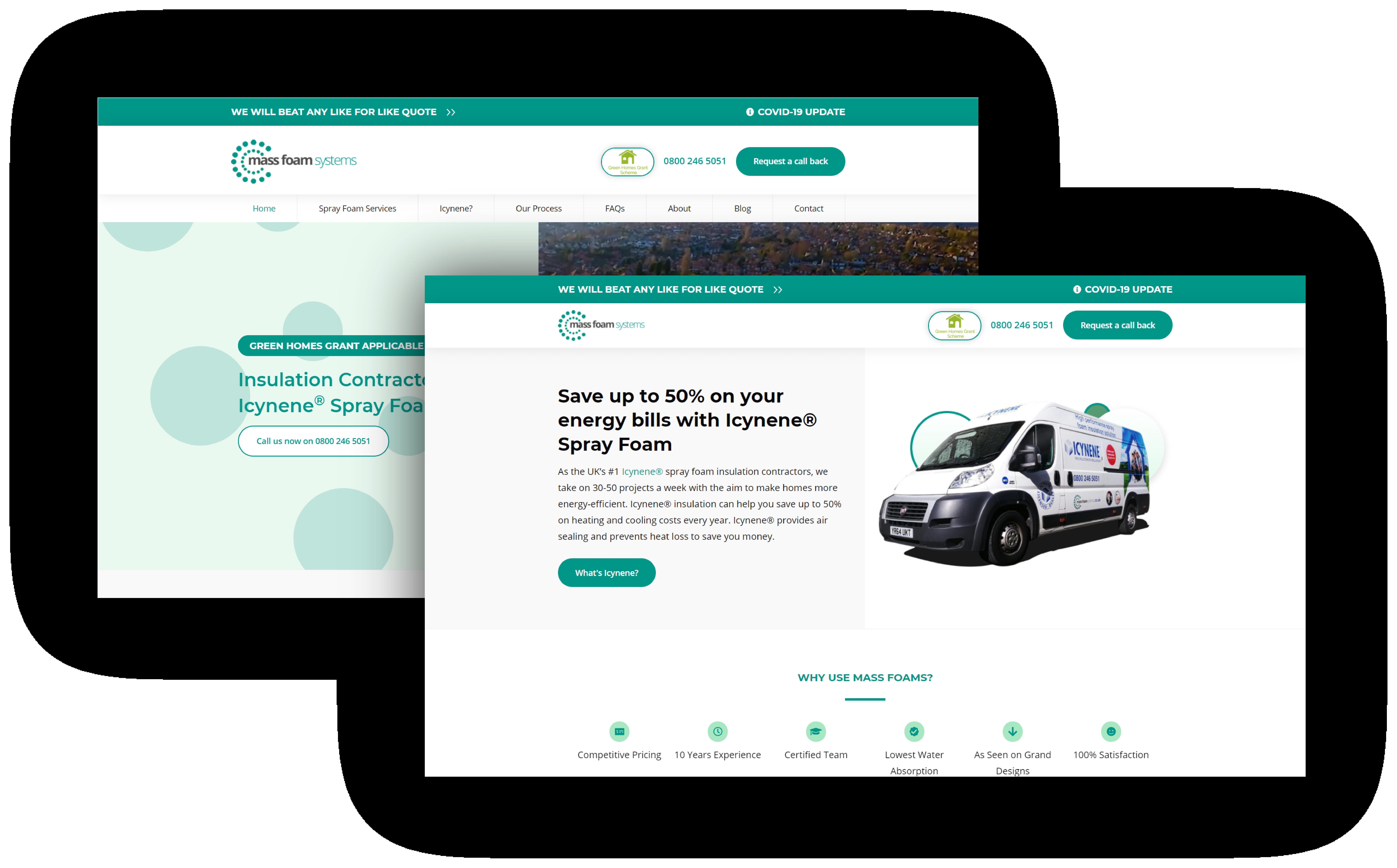 Mass Foam Systems Website