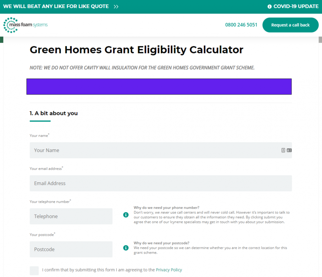 Mass Foam Systems Green Homes Grant Eligibility Calculator